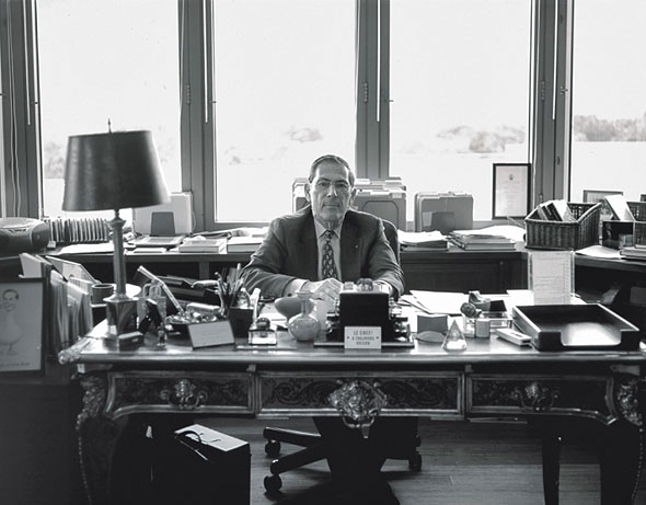 Philippe de Montebello in his office at the Met. Photograph by Lee Clower. Image courtesy W Magazine.