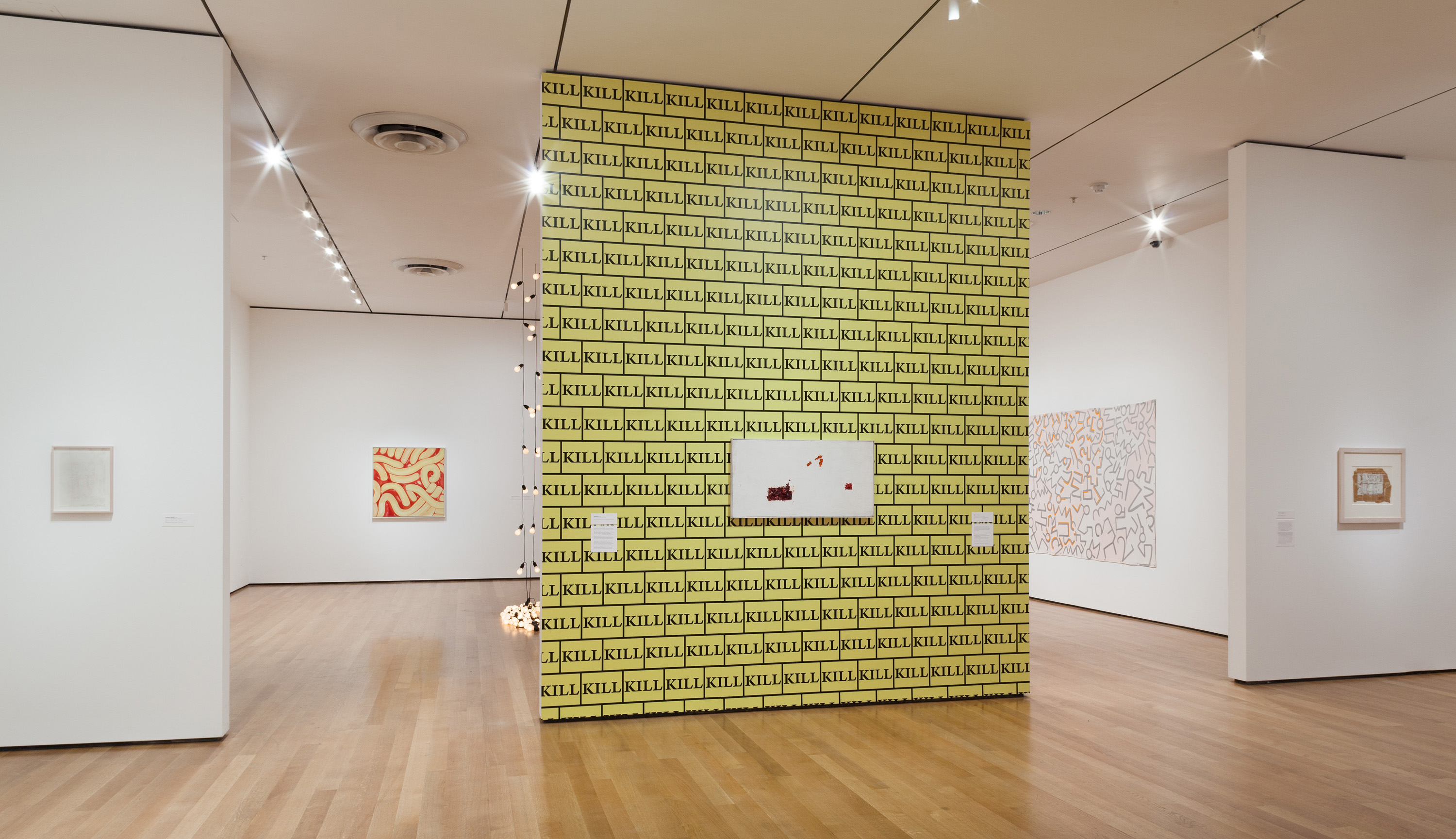 Installation view of Sturtevant: Double Trouble, The Museum of Modern Art, November 9, 2014–February 22, 2015. © 2014 The Museum of Modern Art. Photo: Thomas Griesel. All works by Sturtevant © Estate Sturtevant, Paris.