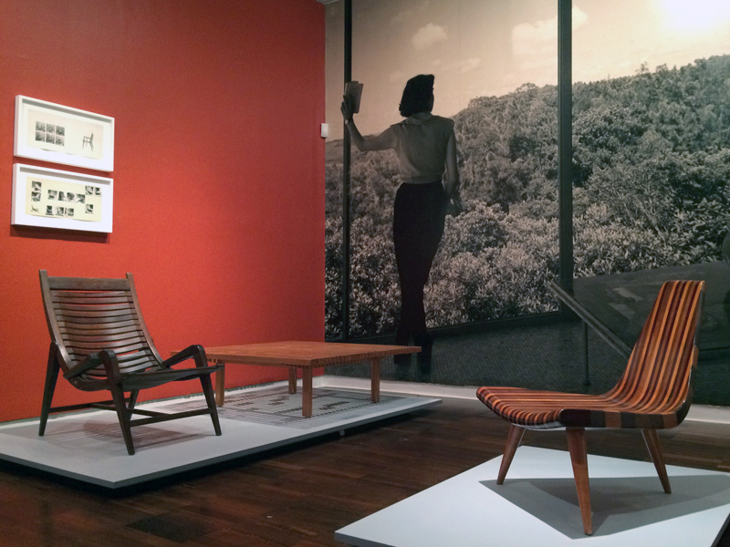 Installation view of Moderno: Design for Living in Brazil, Mexico, and Venezuela, 1940–1978, Americas Society