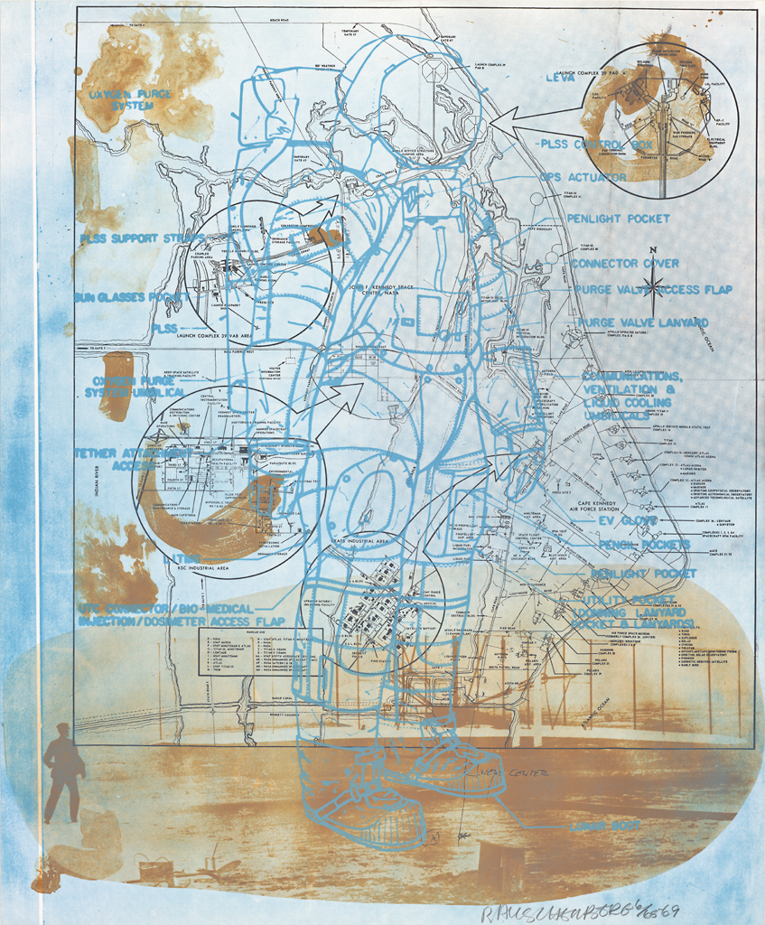 Robert Rauschenberg, Trust Zone (Stoned Moon), 1969; lithograph, 40 in. x 33 in. (101.6 cm x 83.82 cm); Collection SFMOMA, Gift of Harry W. and Mary Margaret Anderson; © Robert Rauschenberg Foundation and Gemini G.E.L. / Licensed by VAGA, New York, NY; published by Gemini G.E.L. 