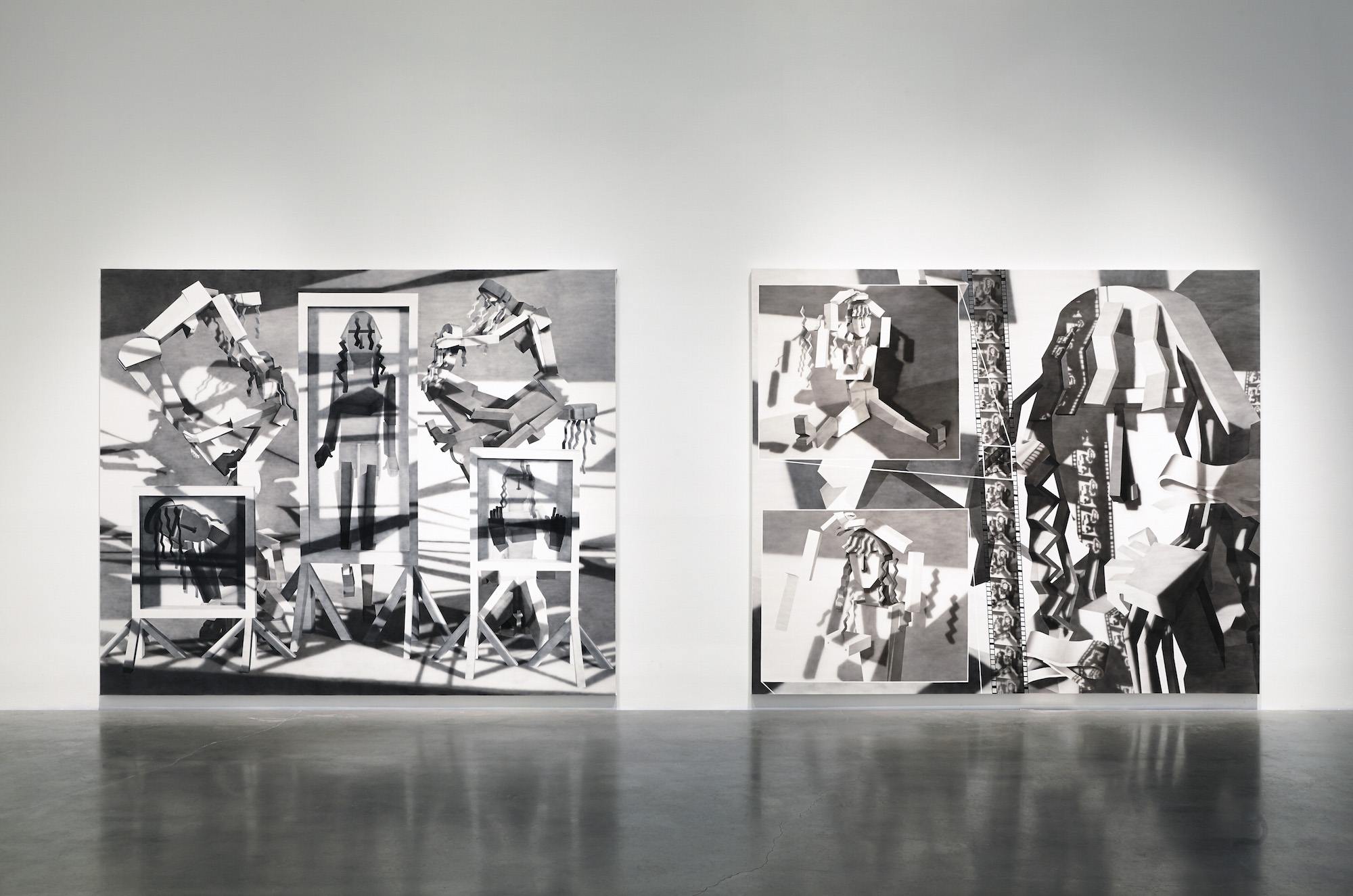 Installation view of Surround Audience featuring Avery Singer. Courtesy of the New Museum. Photo credit: Benoit Pailley