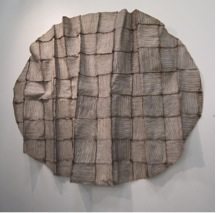 Hideho Tanaka, Vanishing and Emerging Wall, 2009, paper, 87 x 102 x 11 in, browngrotta gallery, photo by author.