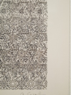 Asako Setoh, Drawing 20150719 (detail), 2015, Ink on paper, 10 ¼ x 10 ¼ in., photo by author.