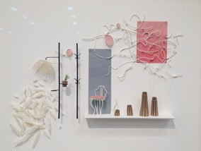 Cybèle Young, That's What I Meant, 2015, Japanese paper construction, 26 x 30 x 2 in., photo by author.