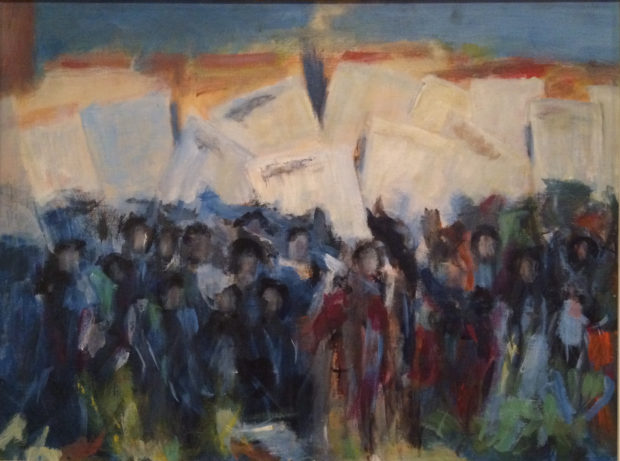 Alma Thomas, Sketch for the March on Washington, c. 1964, oil on canvas board.