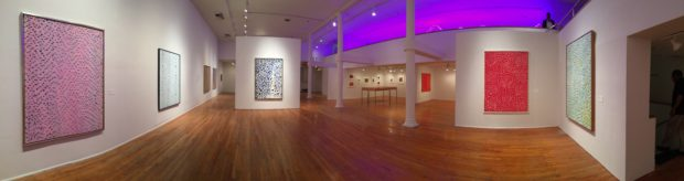 Installation view of Alma Thomas at The Studio Museum in Harlem. Photograph by the author.